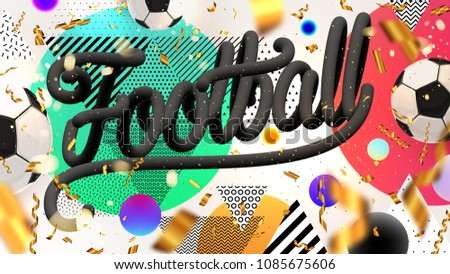 soccer game poster design with text space download free vector art