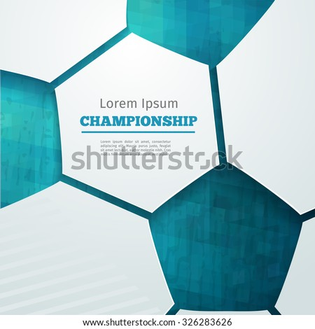 football abstract geometric