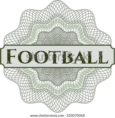 Football abstract linear rosette