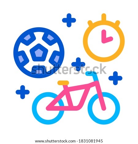 football and bicycle sport time
