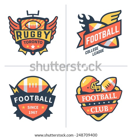 football and rugby emblems