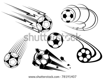 Football and soccer symbols, mascots and emblems for sports design. Jpeg version also available in gallery