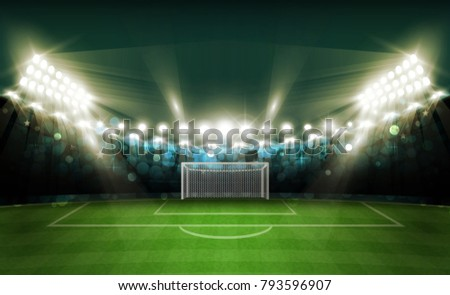 football arena field with