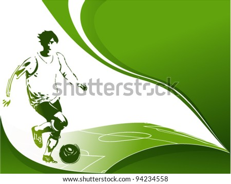 Football background with player