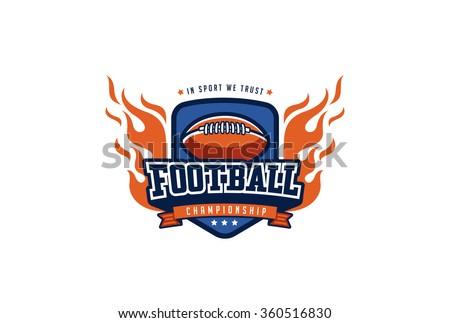 football badge logo design