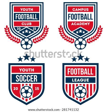 football badge set