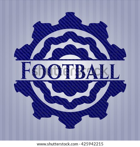 Football badge with jean texture