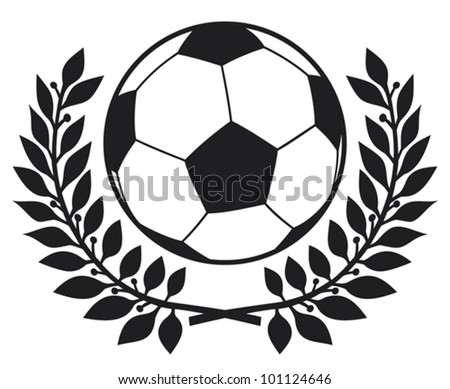 football ball and laurel wreath