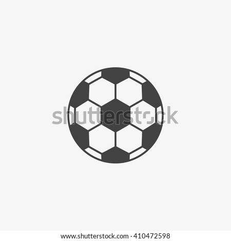 Football ball Icon in trendy flat style isolated on grey background. Soccer ball pictogram. Football symbol for your web site design, logo, app, UI. Vector illustration, EPS10.