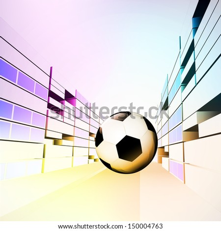 football ball in colorful sport city street vector illustration