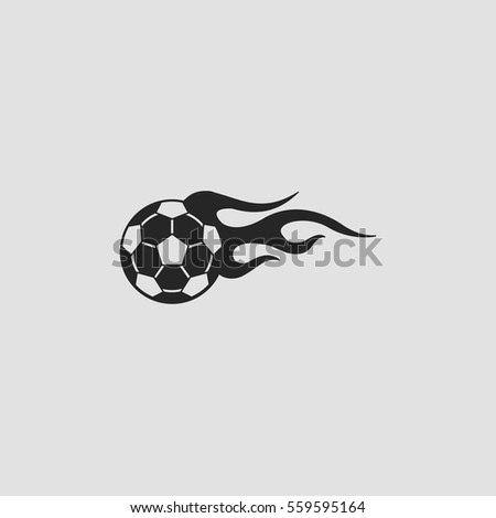 football ball in flames icon
