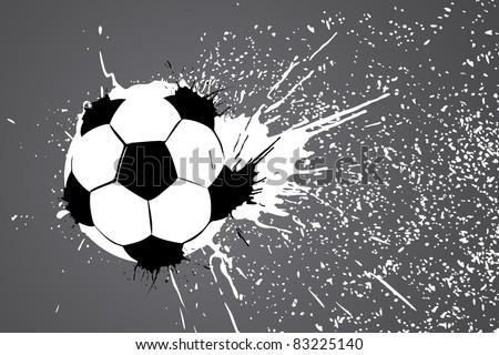 football ball on gray background (vector illustration)