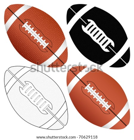 Football ball set isolated on a white background. Vector illustration.