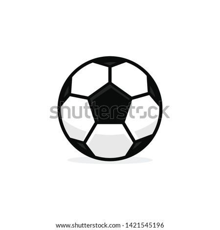 Football ball soccer ball vector template illustration