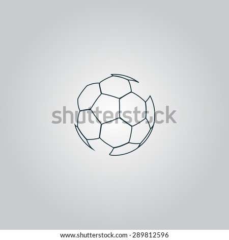 football ball   soccer flat