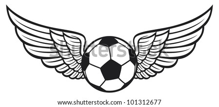 football ball with wings emblem