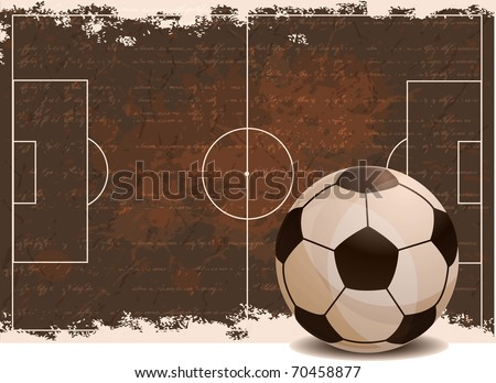 Football banner - stock vector