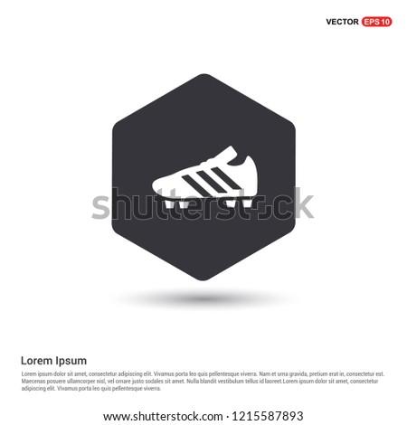 Football Boot Icon Hexa White Background icon template - Free vector icon