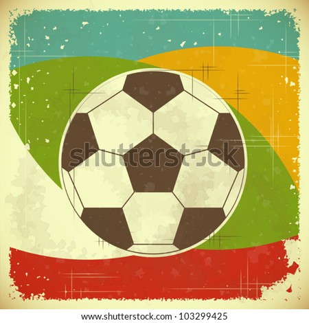 Football card in retro style - vector illustration