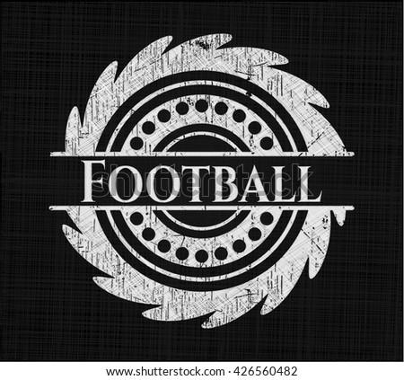Football chalk emblem