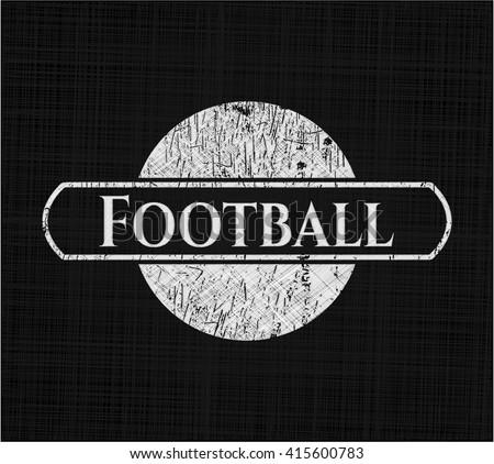 Football chalkboard emblem
