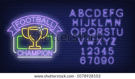 football champion and alphabet...