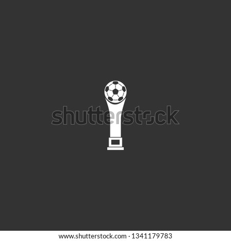 football champion cup icon vector. football champion cup vector graphic illustration