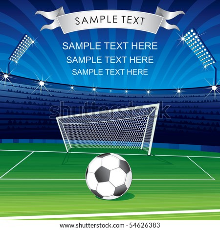 Football Champions League theme- vector poster for your text or design-MORE SIMILAR SOCCER BACKGROUNDS SEE AT MY GALLERY