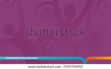 Football championship 2022 purple background vector stock illustration. qatar 2022 Abstract background soccer or football texture. Poster Championship trend Wallpaper.