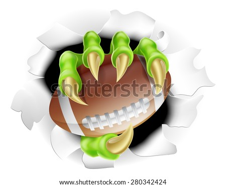 football claw concept of a