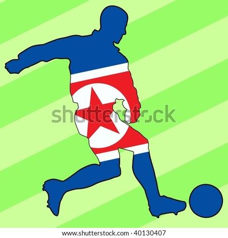 football colors of North Korea