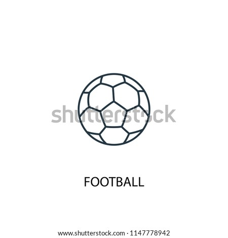 Football concept line icon. Simple element illustration. Football concept outline symbol design from Sport set. Can be used for web and mobile UI/UX