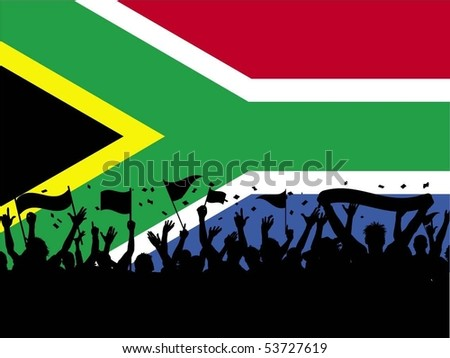 on South African flag