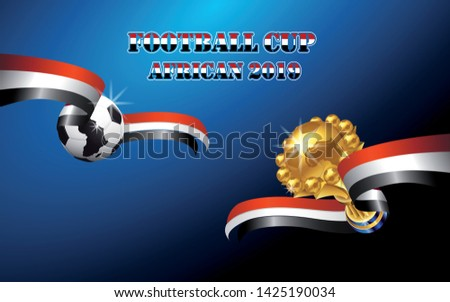 football cup african 2019 , background vector illustration - Images vectorielles Photo stock ©