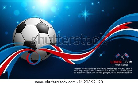 Football Cup Championship with glow light background flag soccer - Shutterstock ID 1120862120