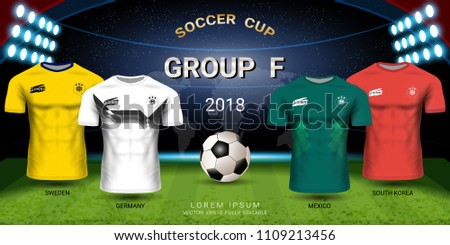 e85403ff475 South Korea vs Germany football scoreboard broadcast graphic soccer template.  Football cup 2018 World championship, National team soccer jersey group F,  ...