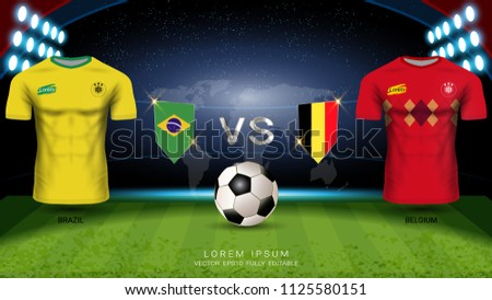 e2ed0646c Football Cup 2018 World Championship Quarter-Final of the Competition,  Belgium VS Brazil,