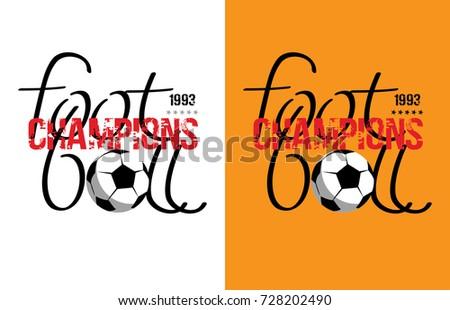 Football design- vector illustration for t-shirt