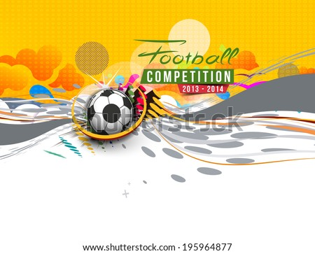 Football Event Poster Graphic Template Vector Background