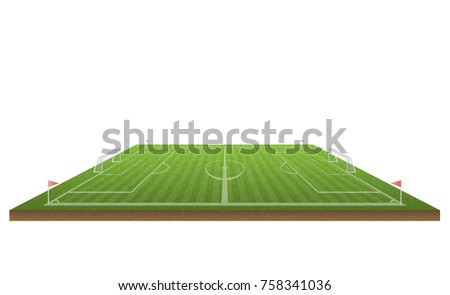 football field and soccer, vector illustration