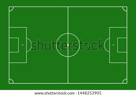 Football field design. view of the soccer field from above. soccer field Background. Soccer field look from top. Vector illustration.