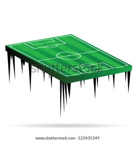 football field green vector illustration on white