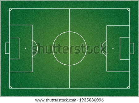 Football field or soccer field with green grass effect