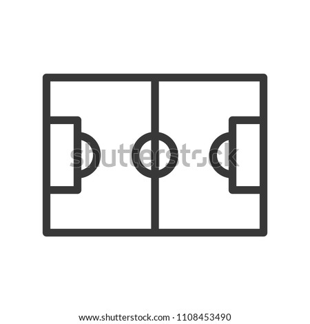 Football field simple Outline icon soccer related