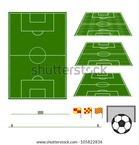 Football Fields with Sections