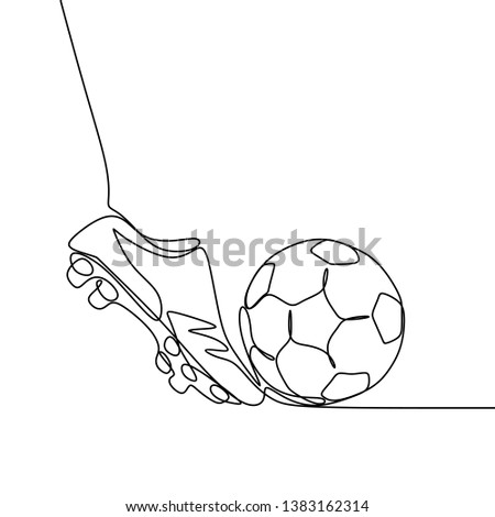 04e3a9c51 Football game continuous line drawing minimalist design on white background  - Shutterstock ID 1383162314 · Soccer shoes ...