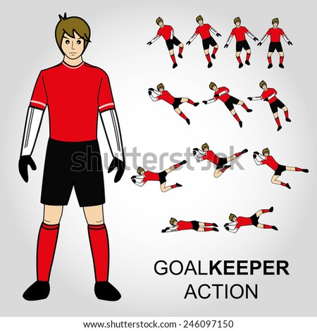 football  goal keeper action
