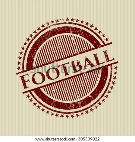 Football grunge seal