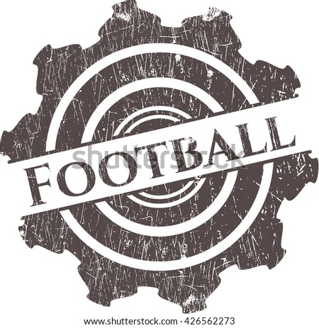 Football grunge stamp