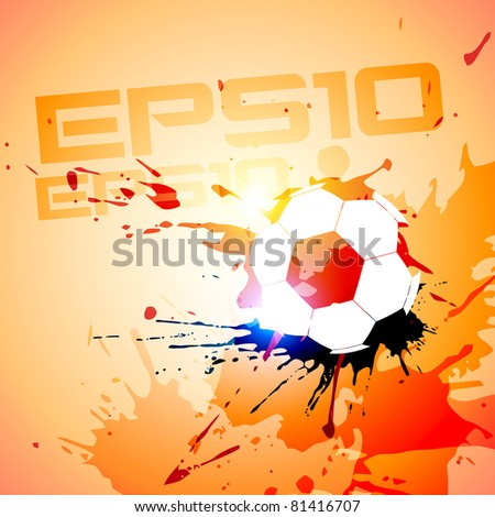 football grunge style vector background